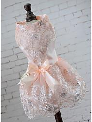 Недорогие -Свадьба / Для вечеринок Кружево Одежда для собак Собака свадебное платье юбка - 1 pcs