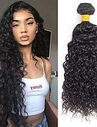 Недорогие -3 Связки Бразильские волосы Волнистые 100% Remy Hair Weave Bundles Человека ткет Волосы Накладки из натуральных волос Плетение 8-28 inch Естественный цвет Ткет человеческих волос