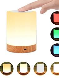 abordables -1pc usb 5v nuit lumière tactile lampe pour chambres salon table portable lampes de chevet avec batterie interne rechargeable dimmable 2800k-3100k lumière blanche chaude couleur changeant