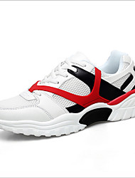 ieftine -Bărbați Pantofi de confort Plasă Primăvară Adidași de Atletism Alb / Negru / Roșu