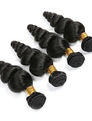 Недорогие -4 Связки Бразильские волосы Свободные волны 100% Remy Hair Weave Bundles Человека ткет Волосы Удлинитель Пучок волос 8-28 дюймовый Естественный цвет Ткет человеческих волос