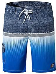 baratos -Homens Básico Shorts Calças - Estampado Azul