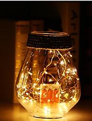 billiga -5m Ljusslingor 50 lysdioder SMD 0603 Varmvit Party / Dekorativ / Bröllop AA Batterier Drivs 1st