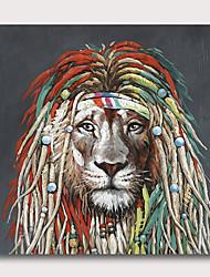 billige -håndmalt strukket oljemaleri lerret klar til å henge abstrakt stil materiale høy kvantitet dyr pop art løve