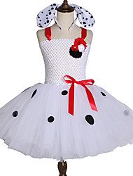 57a27557 jenter tutu kjole dalmation hunden kostyme dot halloween tegneserie skjørt  hodebånd sett