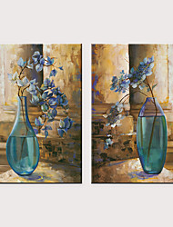 billige -Trykk Valset lerretskunst - Still Life Vintage Theme Klassisk Tre Paneler