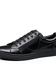 hesapli -Erkek Ayakkabı Tüylü İlkbahar yaz Günlük Spor Ayakkabısı Yürüyüş Günlük için Siyah