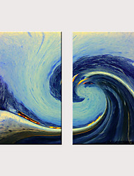 billige -Trykk Valset lerretskunst - Kunst Vintage Theme Klassisk Tre Paneler