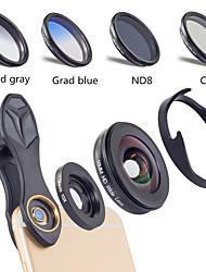 Недорогие -Объектив для мобильного телефона Объектив с фильтром / Широкоугольный объектив / Макролинза стекло / Алюминиевый сплав Макрос 10X 40 mm 0.16 m 110 ° Творчество / Новый дизайн / Cool