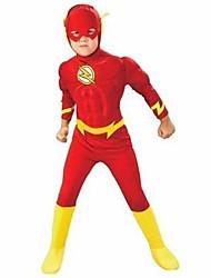 preiswerte -Superheld Cosplay Kostüme Mützen Kinder Jungen Cosplay Halloween Halloween Karneval Maskerade Fest / Feiertage Polyester Rote Karneval Kostüme Patchwork Print