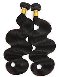 hesapli -3 Paket Hintli Saçı Vücut Dalgası İşlenmemiş Gerçek Saç İnsan saç örgüleri Paketi Saç Gerçek Saç Postişleri 8-28 inç Doğal Renk İnsan saç örgüleri Yaratıcı İpeksi Güvenlik İnsan Saç Uzantıları Kadın's