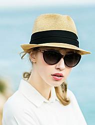 رخيصةأون -الربيع الصيف أسود كاكي قبعة الدلو ألوان متناوبة للجنسين قش,أساسي