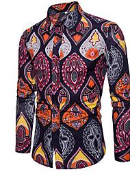 Недорогие -Муж. С принтом Рубашка Геометрический принт Цвет радуги XXXL