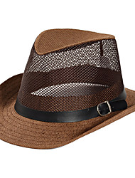 Χαμηλού Κόστους -Άχυρο Καπέλα / Τεμάχια Κεφαλής με Μονόχρωμο 1 Τεμάχιο Καθημερινά Ρούχα / ΕΞΩΤΕΡΙΚΟΥ ΧΩΡΟΥ Headpiece