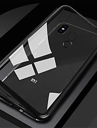 Недорогие -Кейс для Назначение Xiaomi Xiaomi Redmi Note 5 Pro / Xiaomi Redmi Note 6 / Xiaomi Redmi Note 7 Магнитный Чехол Однотонный Твердый Закаленное стекло
