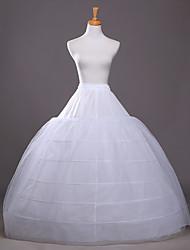 Недорогие -Невеста Classic Lolita 1950-е года 6 обруч Платья Нижняя юбка Кринолин Жен. Девочки Костюм Белый Винтаж Косплей Тюль Свадьба Для вечеринок Принцесса