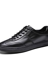 hesapli -Erkek Ayakkabı Mikrofiber İlkbahar yaz Günlük Spor Ayakkabısı Yürüyüş Günlük için Siyah