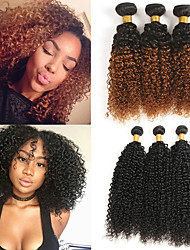 cheap -3 Bundles Brazilian Hair Jerry Curl Remy Human Hair Human Hair Extensions Weave 10-28 inch Human Hair Weaves Extention Best Quality New Arrival Human Hair Extensions Women's