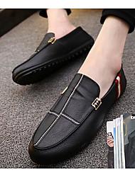 رخيصةأون -رجالي أحذية الراحة PU الربيع المتسكعون وزلة الإضافات أبيض / أسود / برتقالي