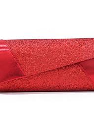 Недорогие -Жен. Пайетки PU Вечерняя сумочка Сплошной цвет Красный / Розовый / Пурпурный / Наступила зима