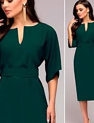 6a7039c7 kvinders knælængde bodycon kjole rød grøn s m l xl