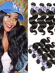 cheap -6 Bundles Malaysian Hair Body Wave Unprocessed Human Hair 100% Remy Hair Weave Bundles Headpiece Natural Color Hair Weaves / Hair Bulk One Pack Solution 8-28 inch Natural Human Hair Weaves Odor Free