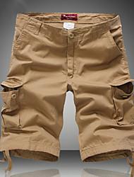 tanie -Męskie Moda miejska Szorty Spodnie - Solidne kolory Khaki