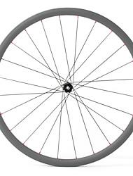 Недорогие -FARSPORTS 700CC Колесные пары Велоспорт 25 mm Шоссейный велосипед 100% углеволокно Бескамерная шина 24/24 Спицы Прочее