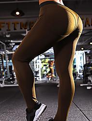 お買い得  -xuanyan 女性用 ヨガパンツ ブラック ライトグレー スポーツ 純色 エラステイン ボトムズ フィットネス アクティブウェア 高通気性 速乾性 伸縮性あり