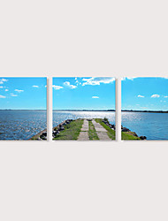 preiswerte -Druck Aufgespannte Leinwandrucke - Landschaft Photografisch Modern Drei Paneele
