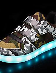 ieftine -Băieți / Fete Pantofi PU Primăvară / Toamnă Pantofi Usori Adidași Plimbare LED pentru Copii Alb / Negru / Curcubeu