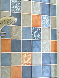 Χαμηλού Κόστους -ταπετσαρία 100γρ / τμ Πολυεστέρας Ελαστικό Πλεκτό Κάλυψης τοίχων - κόλλα που απαιτείται Γεωμετρικό