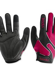 Недорогие -BOODUN Перчатки для велосипедистов Лыжные перчатки Горные велосипеды Сенсорный экран Дышащий Противозаносный Перчатки для тач-скрина Спортивные перчатки Лайкра Пурпурный для Взрослые