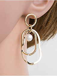 cheap -Women's Multicolor Pearl Braided Drop Earrings Pearl Gold Plated Earrings European Jewelry Gold For Daily 1 Pair
