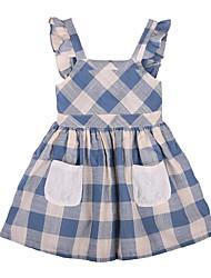 זול -שמלה ללא שרוולים משובץ דמקה בנות ילדים / פעוטות