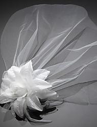 رخيصةأون -صاف قطع زينة الرأس / أغطية الرأس / خوذة مع زهور 1PC زفاف / مناسبة خاصة / عيد ميلاد خوذة