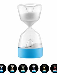 Недорогие -1 шт. Творческие песочные часы привели usb лампа ночной свет 15 минут таймер песочные часы настольная лампа usb аккумуляторная сенсорный настольные лампы стол портативный спальня для детей малыш