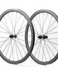 Недорогие -FARSPORTS 700CC Колесные пары Велоспорт 28 mm Шоссейный велосипед Углеродное волокно Подходит для клинчерной покрышки / бескамерной шины 28/28 Спицы 35 mm