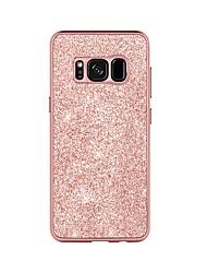 olcso -BENTOBEN Case Kompatibilitás Samsung Galaxy S8 Ütésálló / Galvanizálás / Csillogó Fekete tok Egyszínű / Csillogó Kemény PU bőr / TPU / PC mert S8
