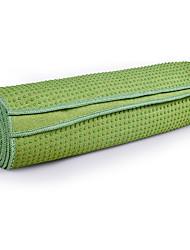 Недорогие -Коврик для йоги Противоскользящий, Складной, Удобный, Прочный сверхтонкие волокна Для Зеленый, Синий, Аметистовый