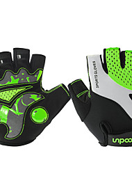 Недорогие -BOODUN Перчатки для велосипедистов Перчатки для горного велосипеда Горные велосипеды Дышащий Противозаносный Ударопрочность Защитный Полупальцами Спортивные перчатки Лайкра Махровая ткань