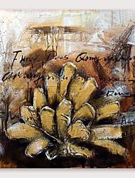 זול -ציור שמן צבוע-Hang מצויר ביד - מופשט מודרני כלול מסגרת פנימית