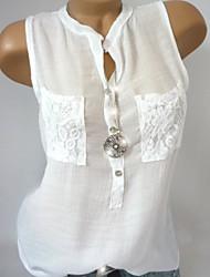 levne -Dámské - Jednobarevné Tričko Bílá XXXL