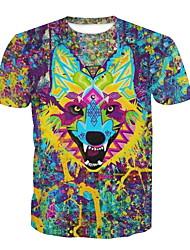 billige -Herre - Dyr T-shirt Regnbue XL