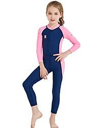 お買い得  -子供 女の子 活発的 / ベーシック パッチワーク パッチワーク ナイロン / スパンデックス 水着 ブルー