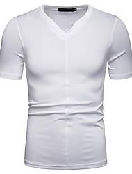 abordables -Hombre Camiseta Un Color Blanco L