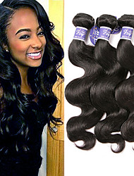 cheap -3 Bundles Brazilian Hair Body Wave 100% Remy Hair Weave Bundles Headpiece Extension Bundle Hair 8-28 inch Natural Color Human Hair Weaves Odor Free Extender Fashionable Design Human Hair Extensions