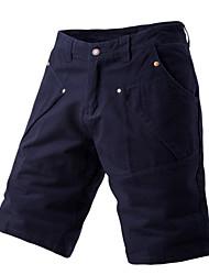 abordables -Hombre Básico Shorts Pantalones - Un Color Azul Marino