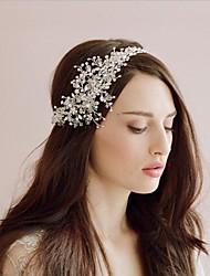 Недорогие -Хрусталь Аксессуары для волос с Гребень в виде цветка / Цветы 1 шт. Свадьба Заставка