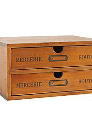Недорогие -Коробка для хранения деревянный Античный 1 коробка для хранения Сумки для хранения домашних хозяйств